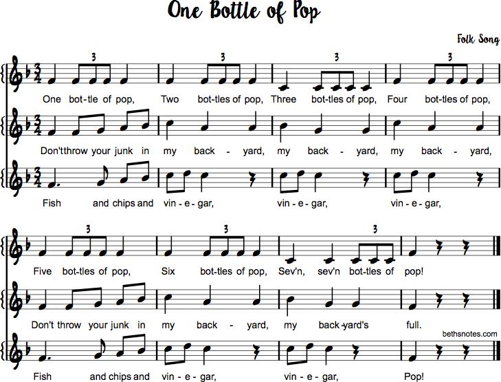 One Bottle Of Pop Beths Notes