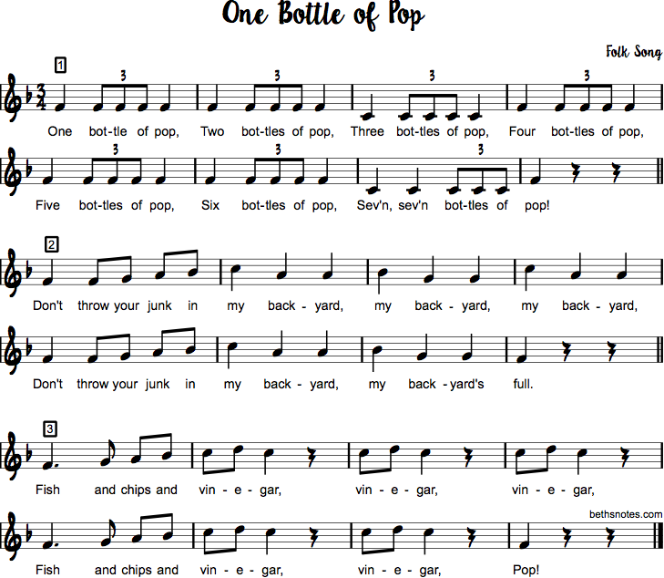 One Bottle of Pop - Beth's Notes