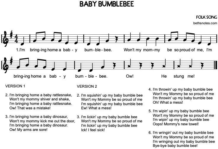 Baby Bumblebee Beth S Notes