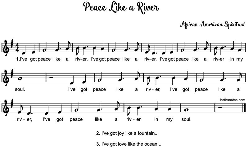 when peace like a river lyrics pdf