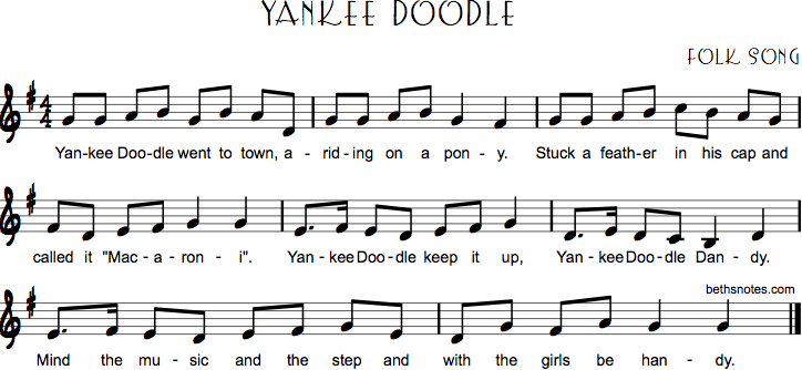 Yankee Doodle Beth S Notes