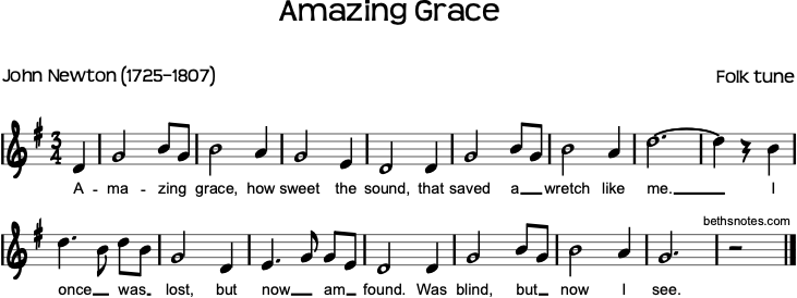Amazing grace beth 39 s notes for Il divo amazing grace mp3
