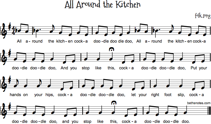All Around the Kitchen - Beth\'s Notes