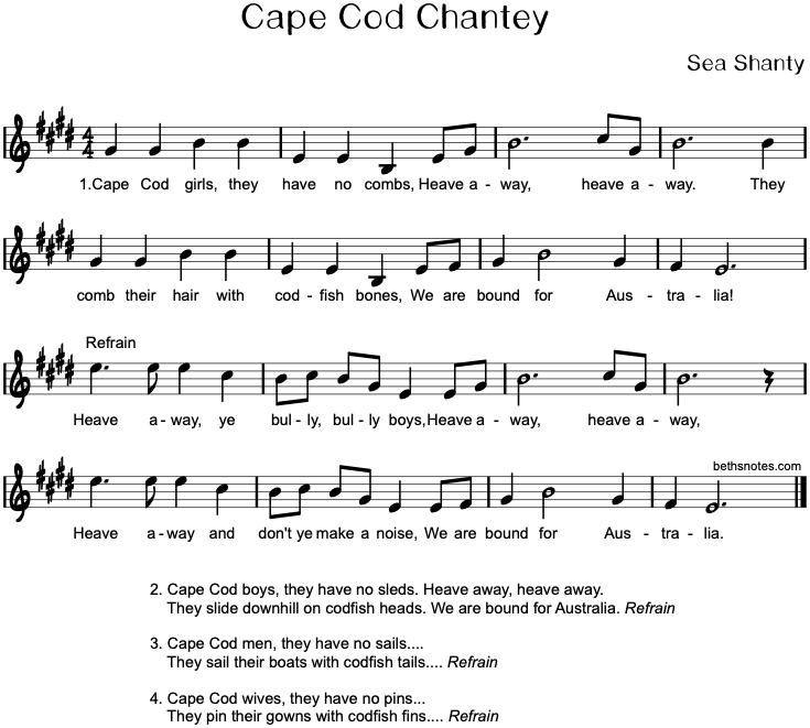 Cape Cod Chantey Beth S Notes