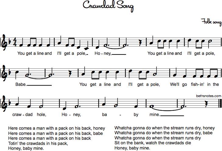 Crawdad Song Beths Notes