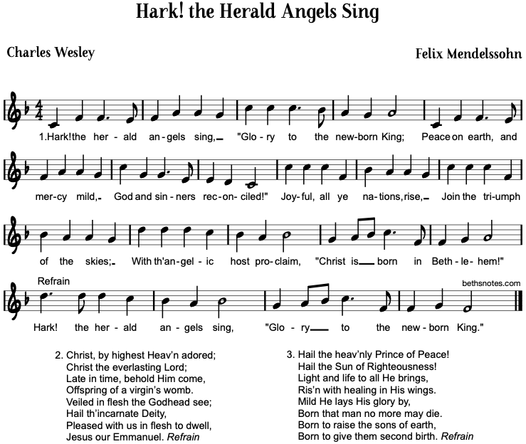 Hark! the Herald Angels Sing - Beth\'s Notes
