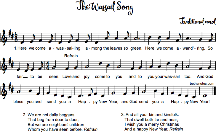 Wassail Song Beth S Notes