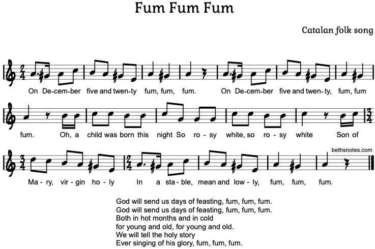 Fum Fum Fum Beth S Notes