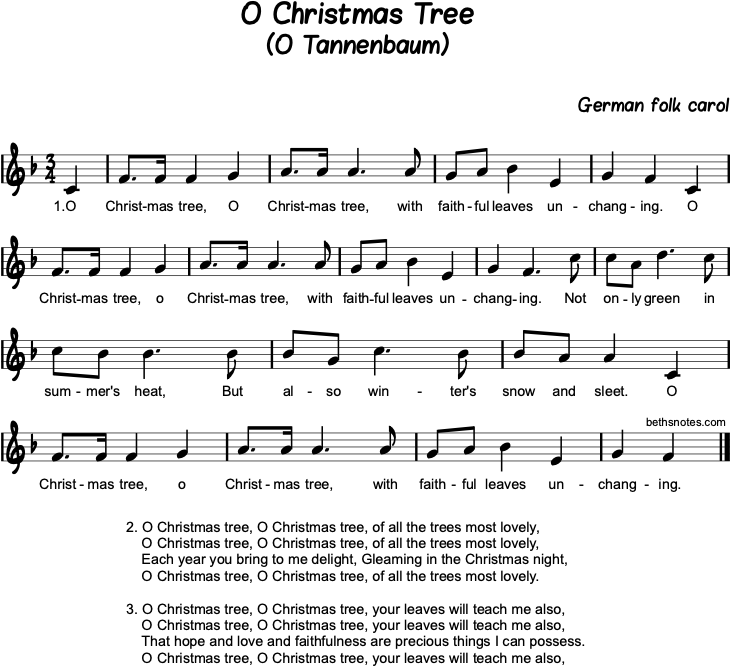 The Song Oh Christmas Tree: O Tannenbaum / O Christmas Tree