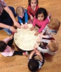toddlers gathering