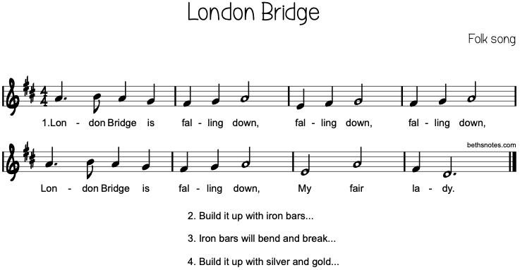 Lyrics London Bridge Is Falling Down