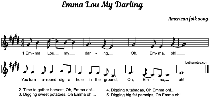 Emma Lou My Darling - Beth\'s Notes