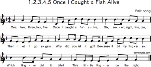 Folk songs archives page 13 of 263 beth 39 s notes for Once i caught a fish alive