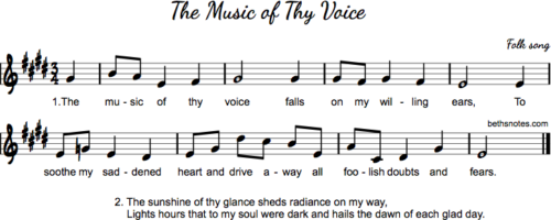 Music of Thy Voice