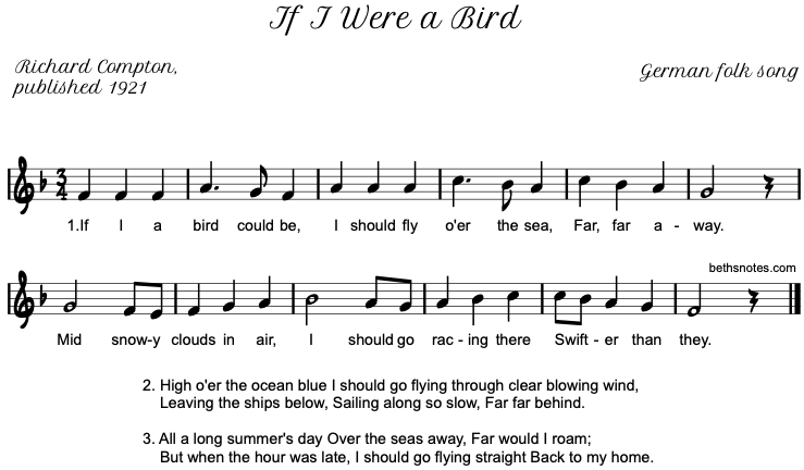If I Were a Bird - Beth\'s Notes