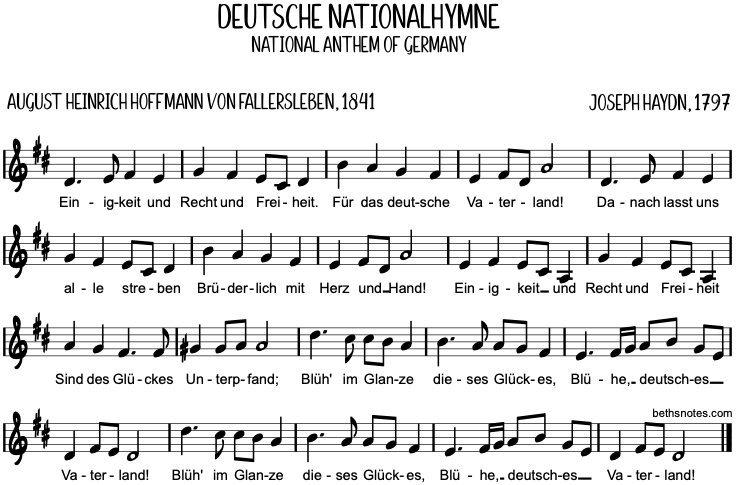 Deutsche Nationalhymne Text Pdf