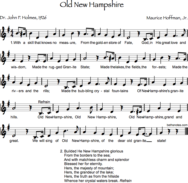 Lyric lyrics to old love songs : Old New Hampshire - Beth's Notes