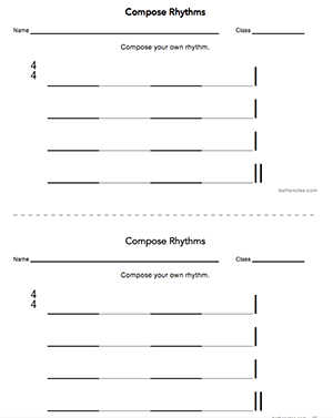 Rhythm Compositions Beth S Notes