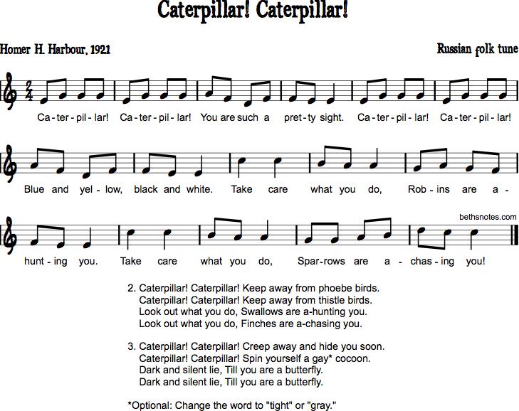 Caterpillar! Caterpillar! - Beth\'s Notes