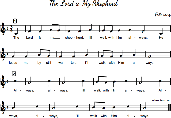 The Lord Is My Shepherd Beth S Notes