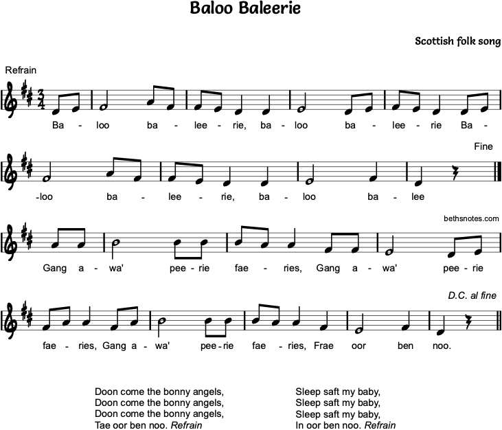 Baloo Baleerie - Beth's Notes 1