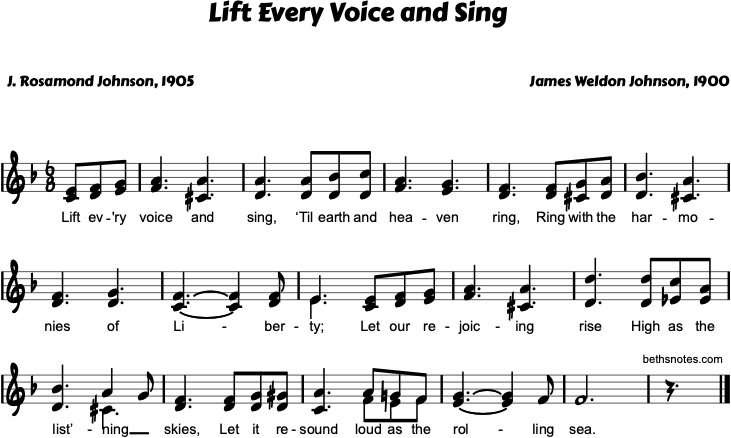 Lift Every Voice and Sing - Beth's Notes 1
