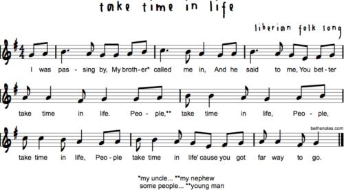 Take Time in Life