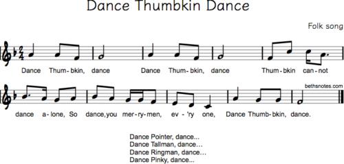Dance Thumbkin Dance