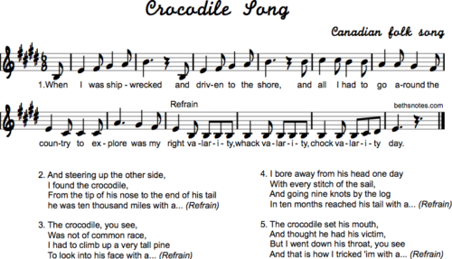 Crocodile Song-Canada