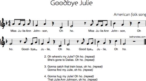 Goodbye Julie (Miss Julie Ann Johnson)