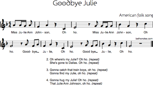 Goodbye Julie (Miss Julie Ann Johnson)